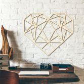 Holzkunst Pappel - Origami Herz