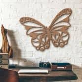 Holzkunst Mahagoni - Schmetterling