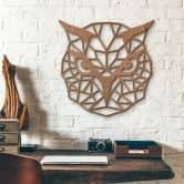 Décoration murale en bois acajou - Hibou origami