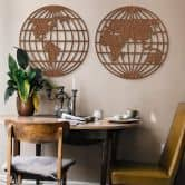 Decori in legno – Mappamondo - globo