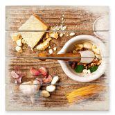 Holzbild Laercio - Pesto Rezept