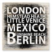 Stampa su legno - London - Mexico - Berlin