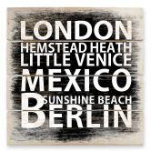 Houten Wanddecoratie London Mexico...