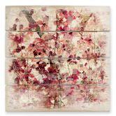 Stampa su legno - Motivo floreale vintage