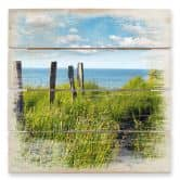 Stampa su legno - Sentiero verso il mare