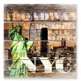 Holzbild New York Szenerie