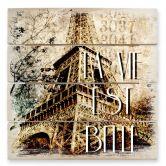 Stampa su legno - La vie est belle - vintage