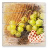 Holzbild Süße Trauben