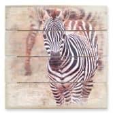 Houten Wanddecoratie Zebra Veulen