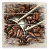Holzbild Kaffeerösterei