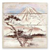 Houten Wanddecoratie Toetzke - Asian Landscape