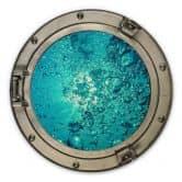 Holzbild 3D-Optik Bullauge - Sound of a Ocean - Rund