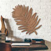 Décoration murale en bois acajou - Feuille de palmier