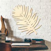 Décoration murale en bois peuplier - Feuille de palmier