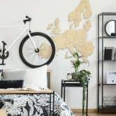 Holzkunst Pappel Furnier - Karte Europa