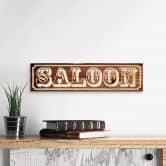 Wooden Sign - Saloon