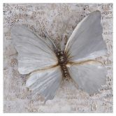 Aluminium Wandbild Schmetterling 80cm x 80cm
