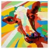 Öl-Wandbild Kuh 60cm x 60cm