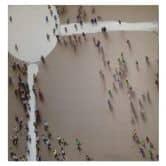 Öl-Wandbild Menschengruppe 100cm x 100cm