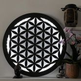 LED Wanddecoratie van MDF - Flower of Life