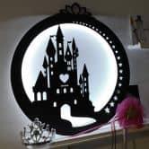 Decorazione luminosa a LED in MDF - Castello
