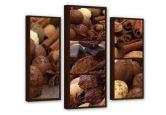 Canvas Chocoladedroom 03 (3-delig)