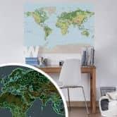 Leuchtposter Weltkarte