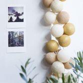 Cotton Ball Lights - LED Lichterkette - Gold 20-tlg.
