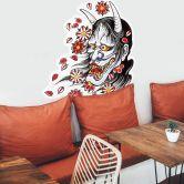 Sticker mural - Miami Ink - Masque Hannya