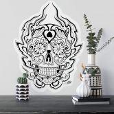 Wandtattoo Miami Ink Mexikanische Totenmaske 1