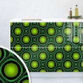 Möbelfolie, Dekofolie - abwischbar - Bubble Grün