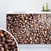 Möbelfolie, Dekofolie - abwischbar - Kaffeebohnen