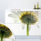 Möbelfolie, Dekofolie - abwischbar - Weiße Gerbera