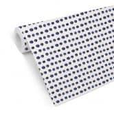 Mustertapete - Aquarell Punkte 01 - blau