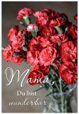 Gutschein Muttertag - Rote Nelken