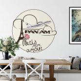 Adesivo murale PAN AM - Paris mon amour