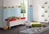 Mustertapete A.S. Création Papiertapete Kids best Friends - Die Biene Maya Blau, Weiß