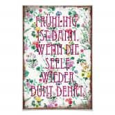 Poster Frühling ist dann, wenn man wieder bunt denkt