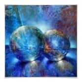 Poster Schmucker -  Zwei blaue Murmeln