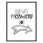 Poster mit Bilderrahmen Our Wifi Password