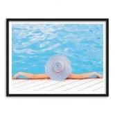 Poster mit Bilderrahmen Swimming Pool 3