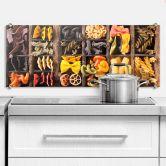 Crédence - Collection de pâtes - Panorama