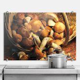 Pannello paraschizzi - Cesto di funghi