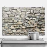 Pannello paraschizzi - Muro di pietra naturale