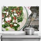 Spritzschutz Sommersalat mit Feta
