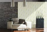 Brigitte Home Wallpaper Cream, Green