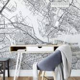 Fototapete Stadtplan Amsterdam