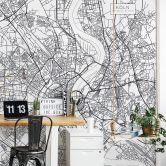 Fototapete Stadtplan Köln