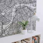 Fotobehang Plattegrond van Londen