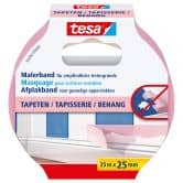 tesa® Afplakband Behang 25m x 25mm